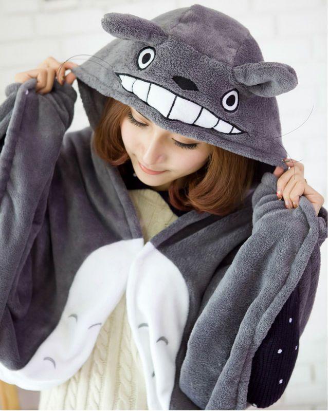 """Накидка с капюшоном """"Totoro"""""""