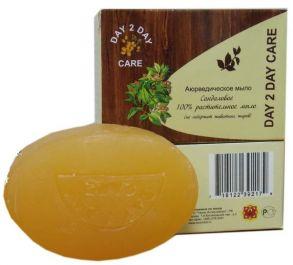 Натуральное твердое мыло DAY 2 DAY CARE Сандаловое. ручной работы травяное аюрведическое мыло.