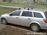 Багажник на крышу Opel Astra, Атлант, аэродинамические дуги