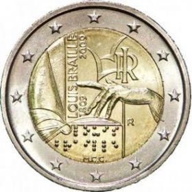 200 лет с рождения Луи Брайля 2 евро Италия 2009