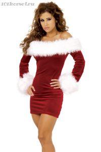 Сексуальное платье Снегурочки