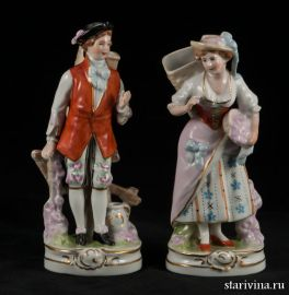 Пара с корзинами, Дрезден, Германия, сер. 20 века
