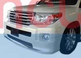 Аэродинамическая накладка на передний бампер Тип 1 (губа) для Toyota Land Cruiser 200 2012