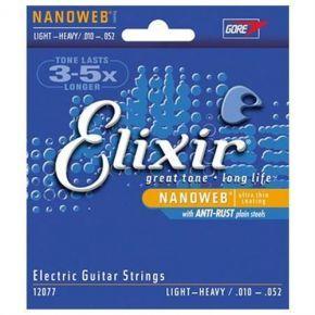 ELIXIR 12077 NanoWeb (010-052) Струны для электрогитары