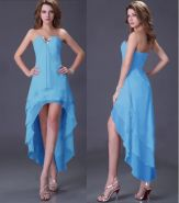 Голубое платье на шнуровке