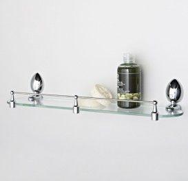Полка стеклянная  с бортиком  WasserKraft Серия Weser К-8600