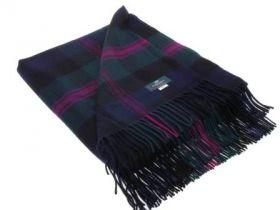 Плед, 100 % стопроцентная шотландская овечья шерсть, расцветка клана Бэрд- Голова Грифона