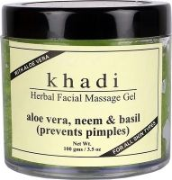 Khadi Herbal Aloevera,Neem & basil Facial massage Gel
