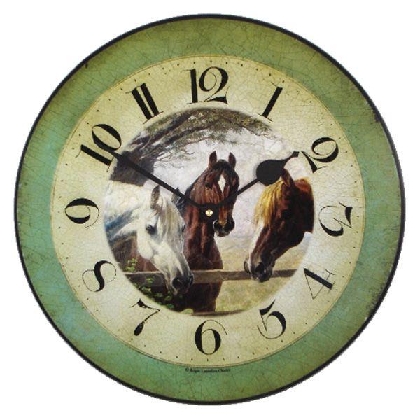 Часы с изображением лошади