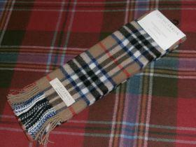 шарф 100% шерсть , расцветка клан Томпсон THOMPSON CAMEL MODERN TARTAN LAMBSWOOL SCARF