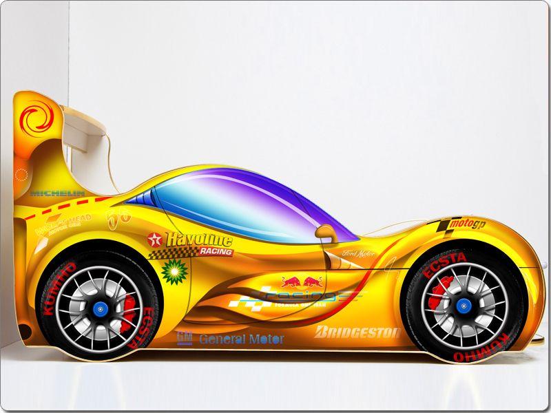Кровать машина «Спорт Кар Желтая»