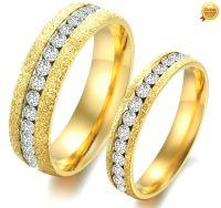 Обручальные кольца с алмазной крошкой