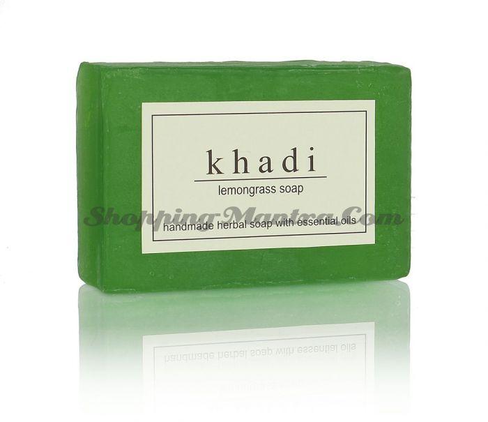 Мыло с натуральными эфирными маслами Лимонная трава (2шт.)(Khadi Lemongrass Soap)