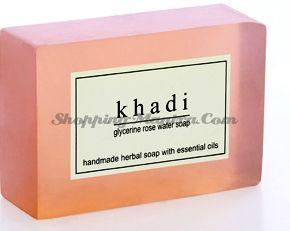 Мыло с натуральными эфирными маслами Розовая вода (2шт.) (Khadi Herbal Rose Water Soap)