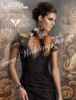 Воротник манишка горжетка из меха лисы дизайнерский Wedding fur купить Москва