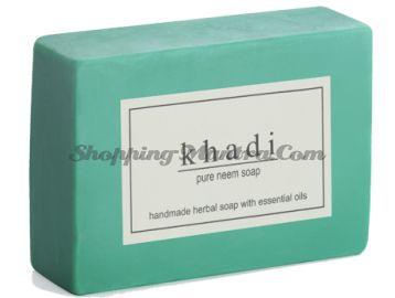 Мыло с натуральными эфирными маслами Ним (2шт.) (Khadi Herbal Pure Neem Soap)