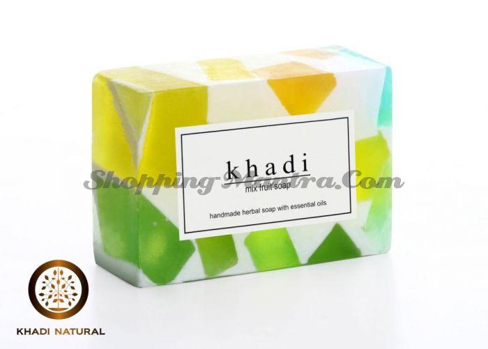 Мыло с натуральными эфирными маслами Фруктовое (2шт.) (Khadi Herbal Mix Fruit Soap)