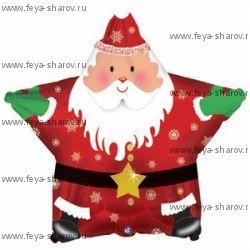 "Шар ""Звезда Санта"" 46 см"