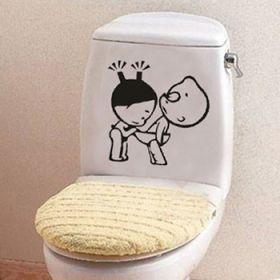"""Стикер для туалета """"мальчик с девочкой"""""""