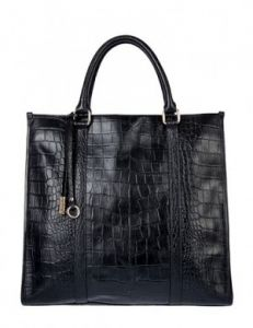 Высокая кожаная сумка