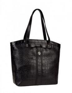 Высокая чёрная сумка