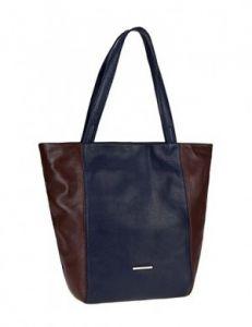 Сине-коричневая сумка