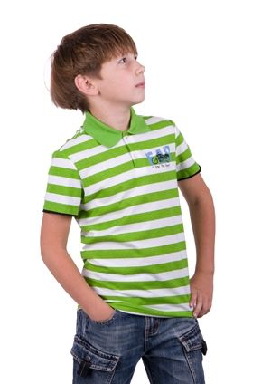 Джемпер для мальчика зеленая в полоску