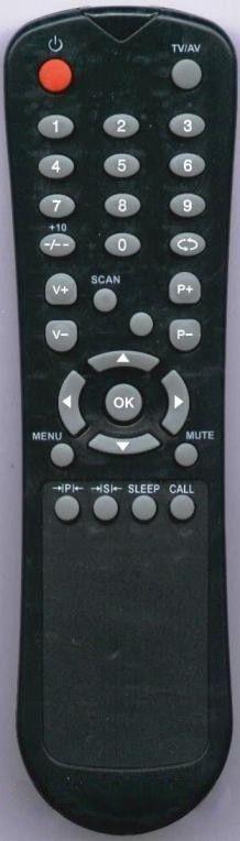 Пульт для Shivaki/Novex/ERISSON/Hyundai BT0419B (LCDTV) (15LM01, 15LM02, 15LM03, 20LM01, H-LCD1508, H-LCD2008, STV-20L2)