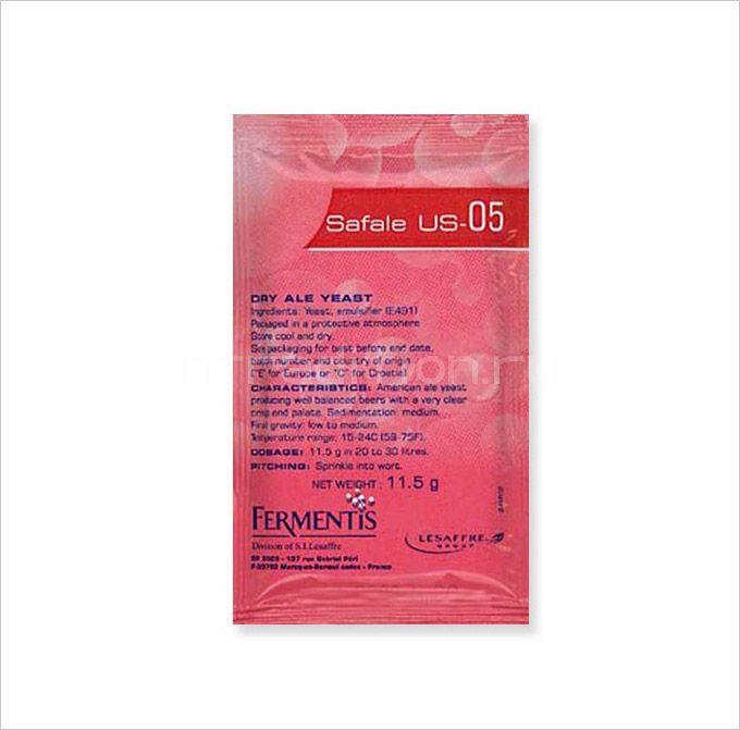 Сухие пивные дрожжи Safale US-05 (заводская упаковка 11,5 гр.)