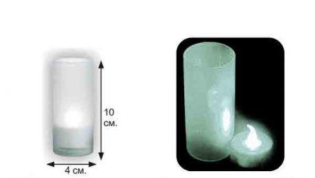LED-свеча, в матовом стаканчике (белая)