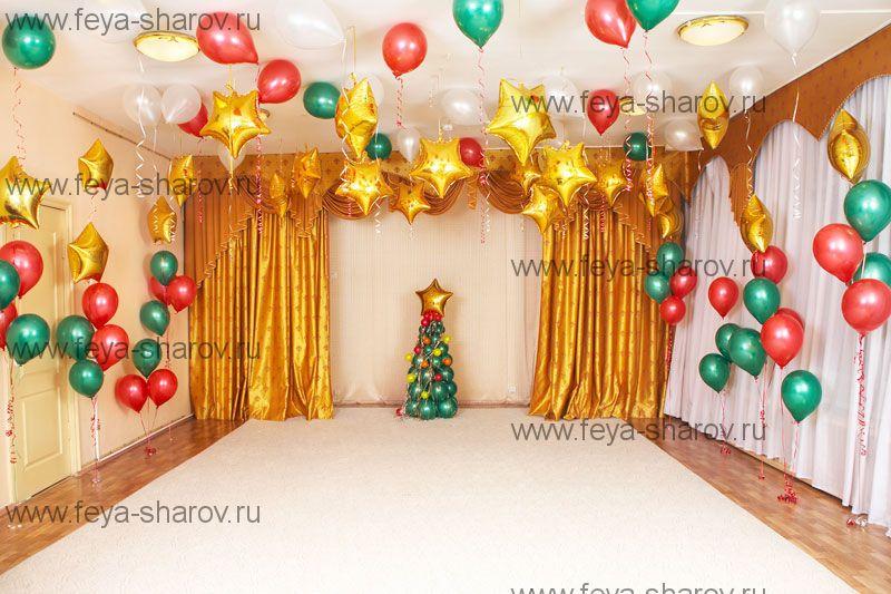 Оформление зала на новый год