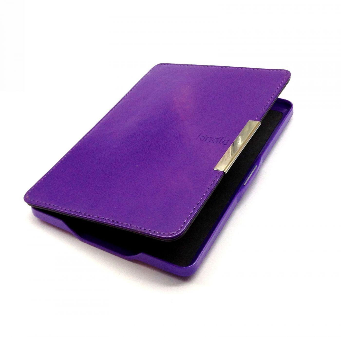 Обложка для Amazon Kindle Paperwhite (с магнитной застежкой)  Фиолетовая