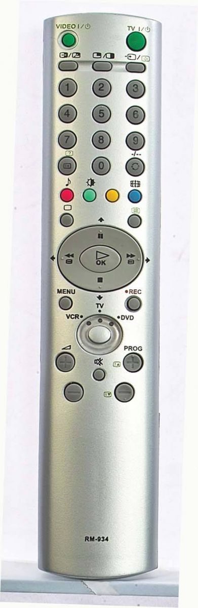 Пульты для Sony RM-934 (TV) (KV-29LS60, KV-29LS60K, KV-29SE10, KV-29XL70, KV-29XL70K, KV-29XL71K, KV-32CS71, KV-32FX68K, KV-32LS35B, KV-32LS35K, KV-32LS60K, KZ-32TS1E, KZ-42TS1E)