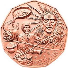 Новый Год - Фольклор(The New Year - Folklore) 5 евро Австрия 2014