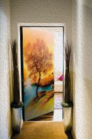 Наклейка на дверь - Пейзаж 2 | магазин Интерьерные наклейки