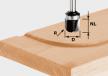Фреза FESTOOL  для изготовления желобка HW S8 R6,4 KL 490982
