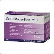 BD Miсro-Fine Plus иглы для шприц- ручки 5mm /5мм ( 100 шт )