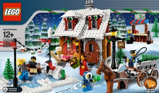 Пекарня в зимней  деревне. ЛЕГО 10216