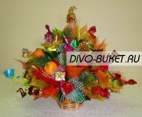 """Букет из конфет на новый год №204 """"Мандаринки"""""""