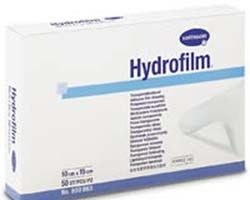 Самофиксирующаяся прозрачная повязка Hydrofilm Plus (Гидрофилм Плюс) 10х12 см с впитывающей подушечкой.