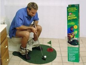 """Игра """"Мини-гольф"""" для туалета"""