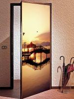 Наклейка на дверь - Мосты | магазин Интерьерные наклейки