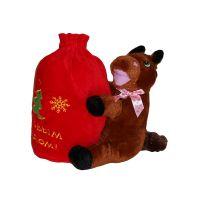 Новогодний подарок лошадка с конфетами музыкальная.