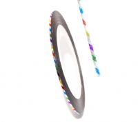 Декоративная самоклеющаяся лента (0,8 мм) №20 Цвет: цветные полоски голограмма