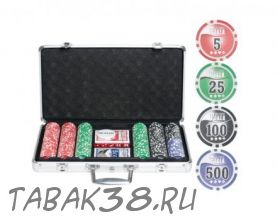 Покерный набор Nuts на 300 ф. кейс (фишки 9,5гр номинал 24750)