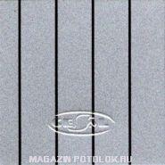 Закрывающий, пристенный П-профиль, B22, серебристый металлик с хромированной полосой