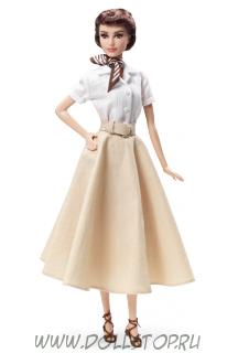 "Коллекционная кукла Барби ""Одри Хепберн в ""Римских каникулах"" (Audrey Hepburn in Roman Holiday),  Pink Label Barbie, Mattel (X8260)"