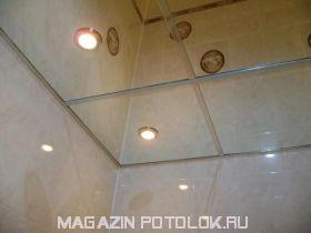 Зеркало 300х300 мм. с отверстием под светильник