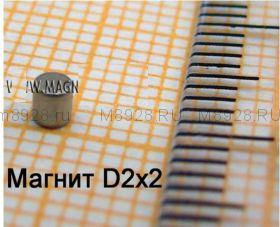 Магнит 2x2 мм N33