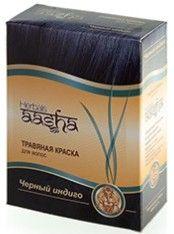 Краска для волос | Черный индиго | 60 г | Aasha Herbals